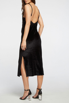 Chaser Stretch Velvet V Back Midi Cami Dress - Alternate List Image