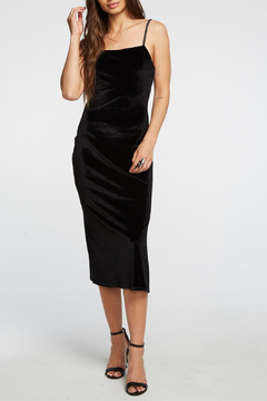 Chaser Stretch Velvet V Back Midi Cami Dress - Product List Image
