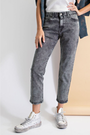 easel  Cropped Washed Pants - Product Mini Image