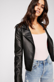 Free People Stretchy American made bodysuit featuring a square neckline. - Other