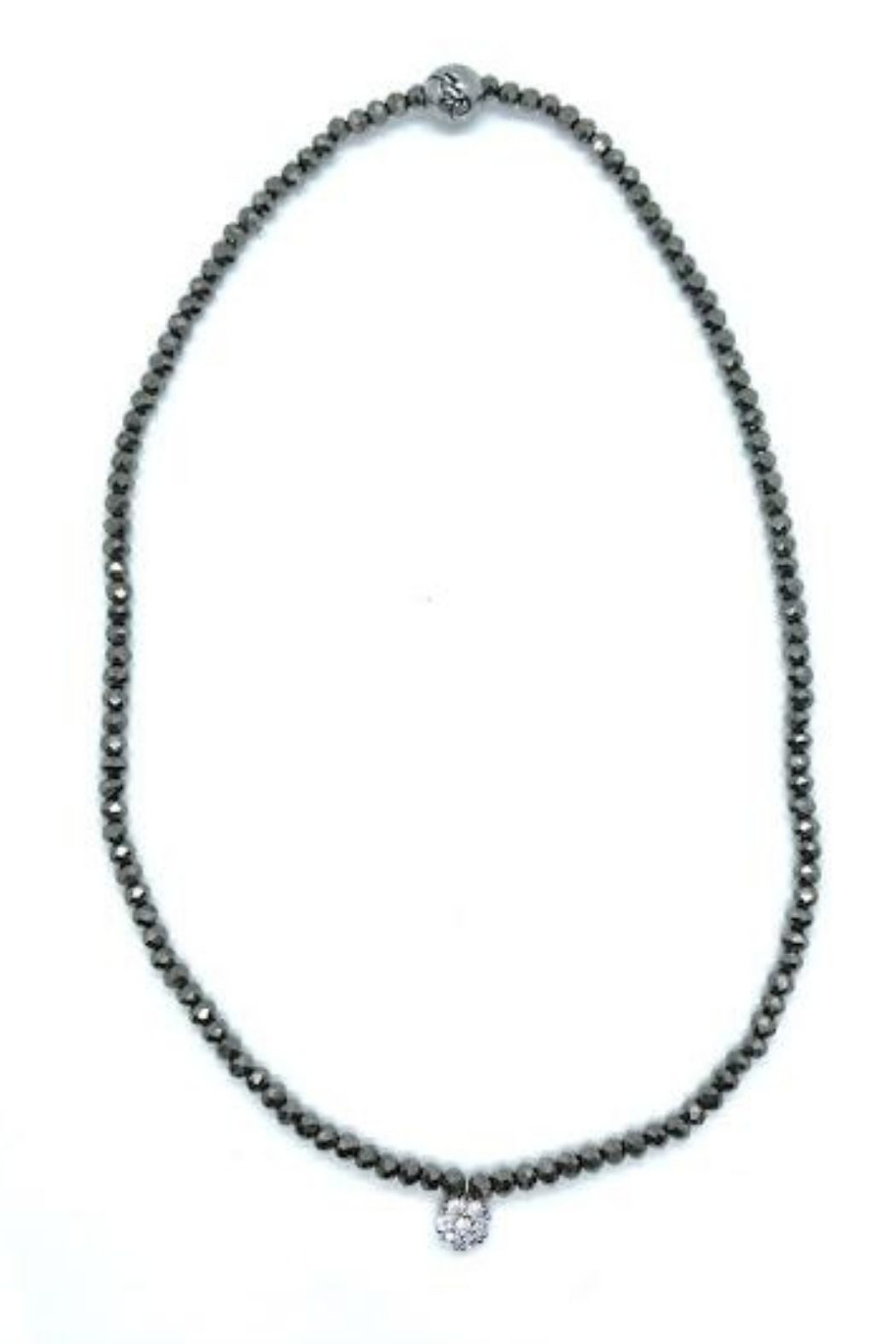 Stia Couture Stretchy Beaded Choker - Side Cropped Image