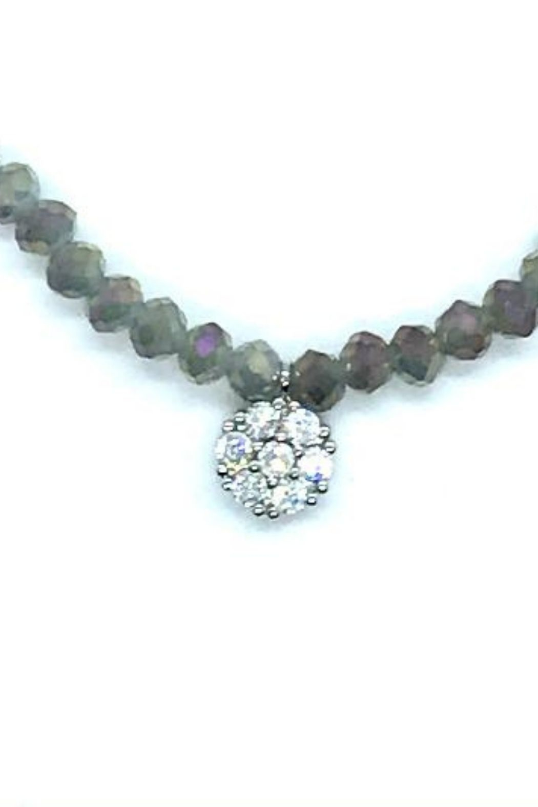 Stia Couture Stretchy Beaded Choker - Front Cropped Image