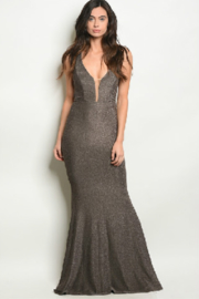 Ricarica Stretchy Bronze Gown - Front cropped