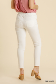 umgee  STRETCHY DENIM PANTS WITH BACK PKTS - Side cropped