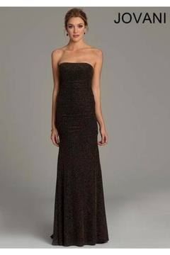 Jovani PROM Stretchy Gold Gown - Product List Image