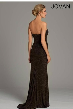 Jovani PROM Stretchy Gold Gown - Alternate List Image