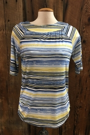 FDJ French Dressing Striated Stripe Top - Front cropped