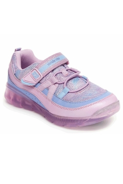 Shoptiques Product: Stride Rite Kids Made2Play Light-Up Burst Sneaker in Purple Multi