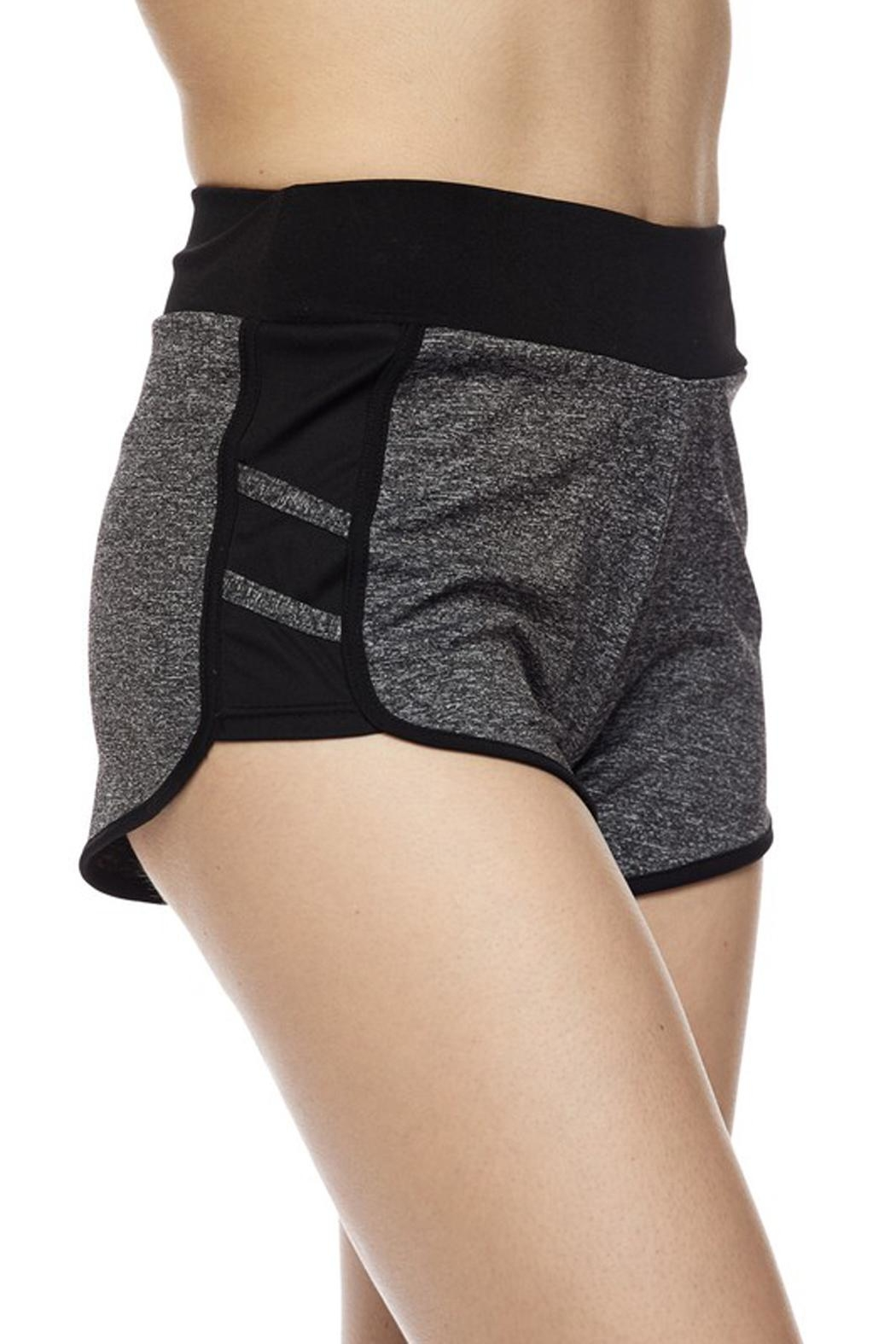 New Mix Striipe Athletic Short - Back Cropped Image