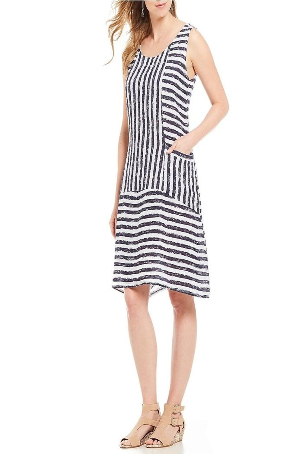 M made in Italy Strip Dress - Main Image