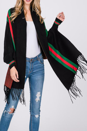 Patricia's Presents Stripe Accent Cape Shawl - Product Mini Image