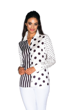 Lily Moss Stripe and Dot Blouse - Product List Image