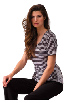 Alison Sheri Stripe and Dot Tee - Product List Image