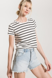 z supply Stripe Baby Tee - Front cropped