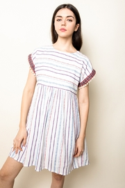THML Clothing Stripe Babydoll Dress - Front cropped