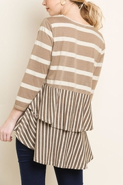 Umgee USA Stripe Babydoll Top - Front full body