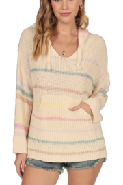 Vintage Havana  Stripe Baja Sweater Hoodie - Product Mini Image