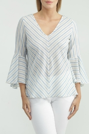 Kay Celine Stripe Bell-Sleeve Blouse - Product Mini Image