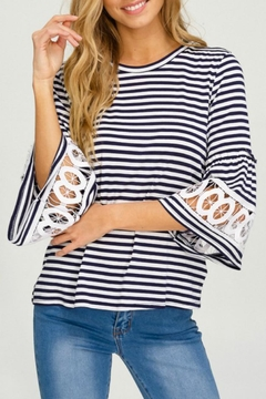 Shoptiques Product: Stripe Bell-Sleeve Tee