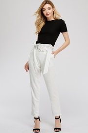 The Sang Stripe Belted Pants - Front full body