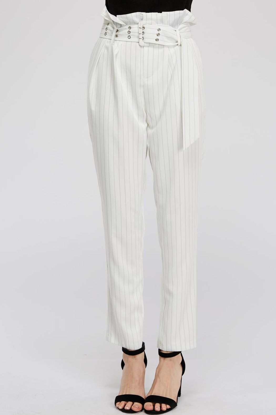 The Sang Stripe Belted Pants - Main Image