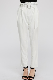 The Sang Stripe Belted Pants - Product Mini Image