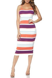 Hot & Delicious Stripe Bodycon Dress - Product Mini Image