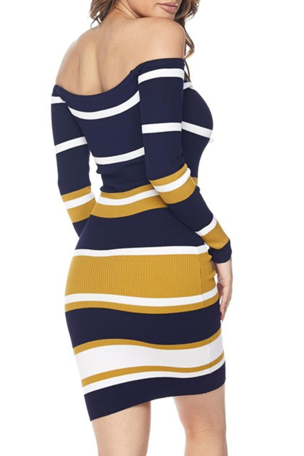 hera collection Stripe Bodycon Dress - Side Cropped Image