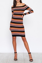 Jealous Tomato Stripe Bodycon Dress - Product Mini Image