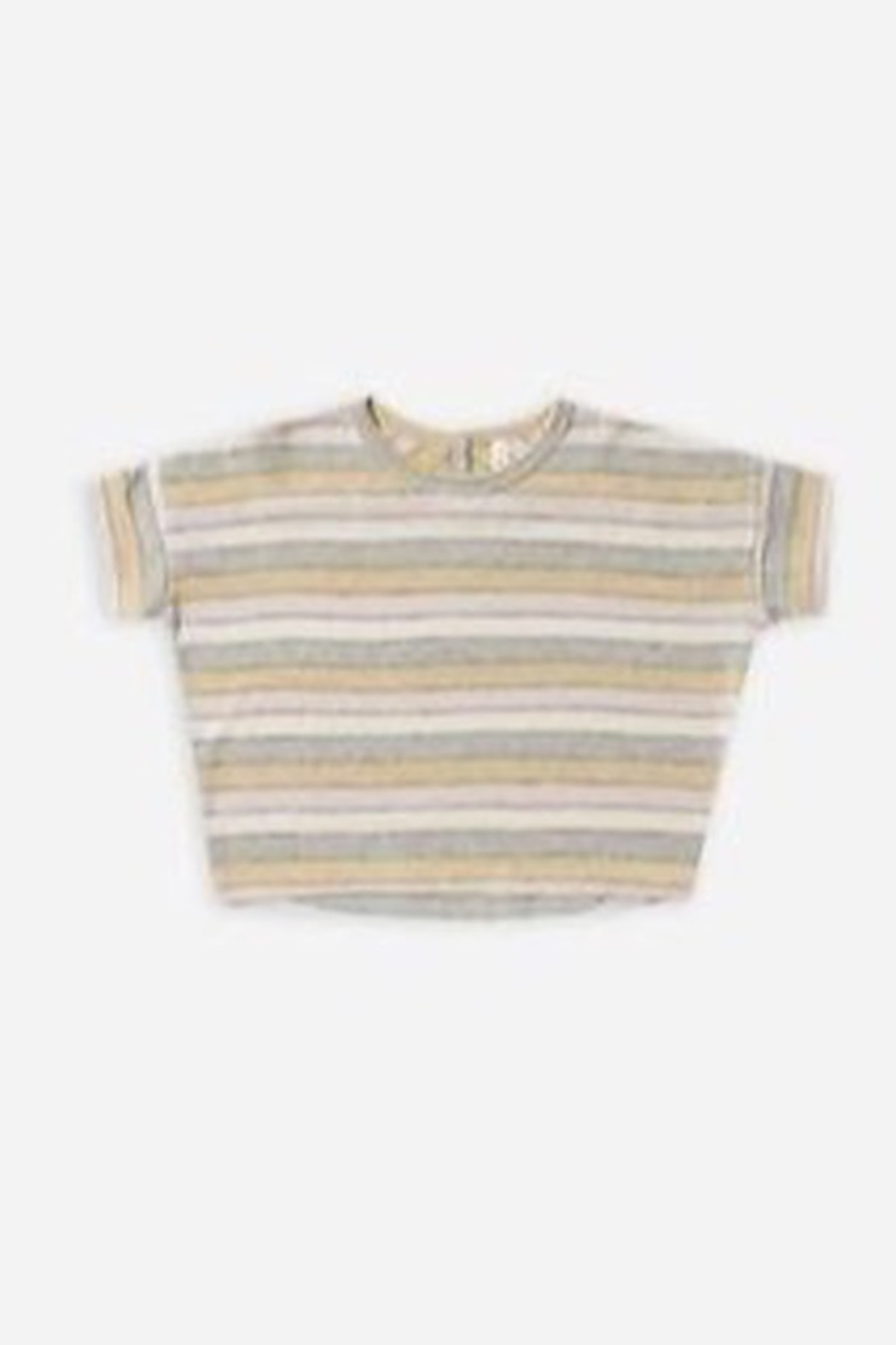 Rylee & Cru Stripe Boxy Tee - Front Cropped Image