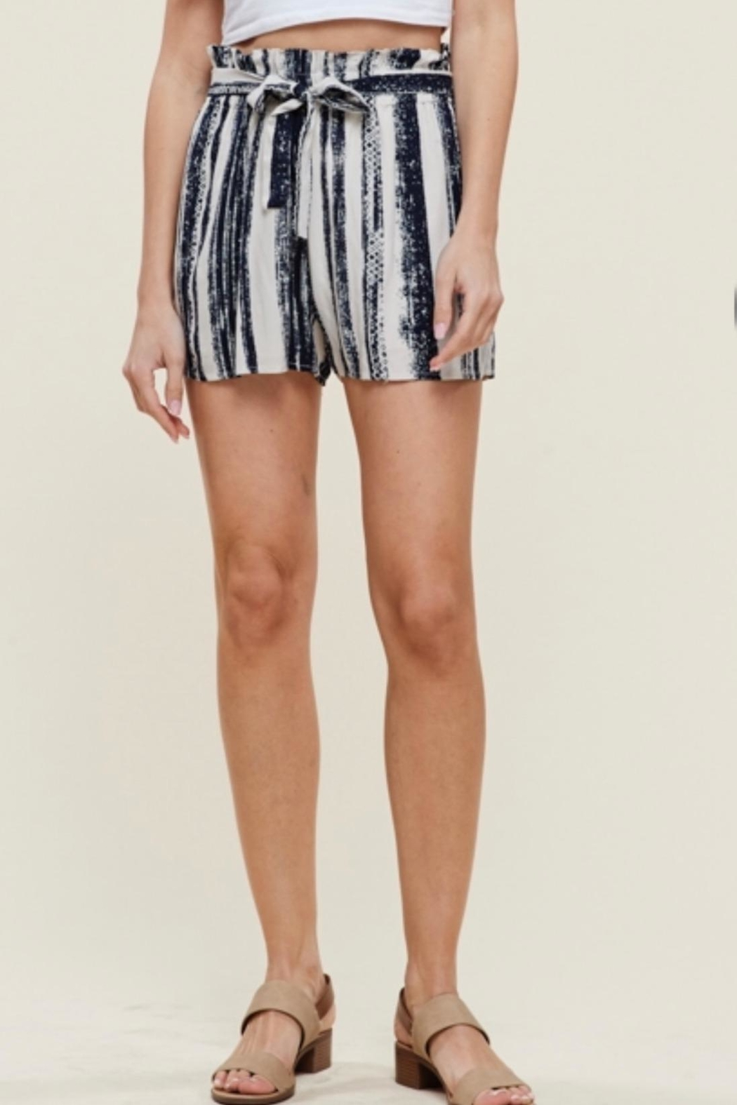 Staccato Stripe Bucket Shorts - Main Image