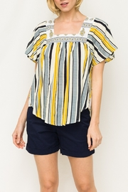 Mystree Stripe Butterfly Top - Front cropped