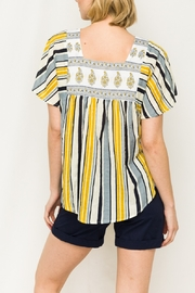 Mystree Stripe Butterfly Top - Front full body