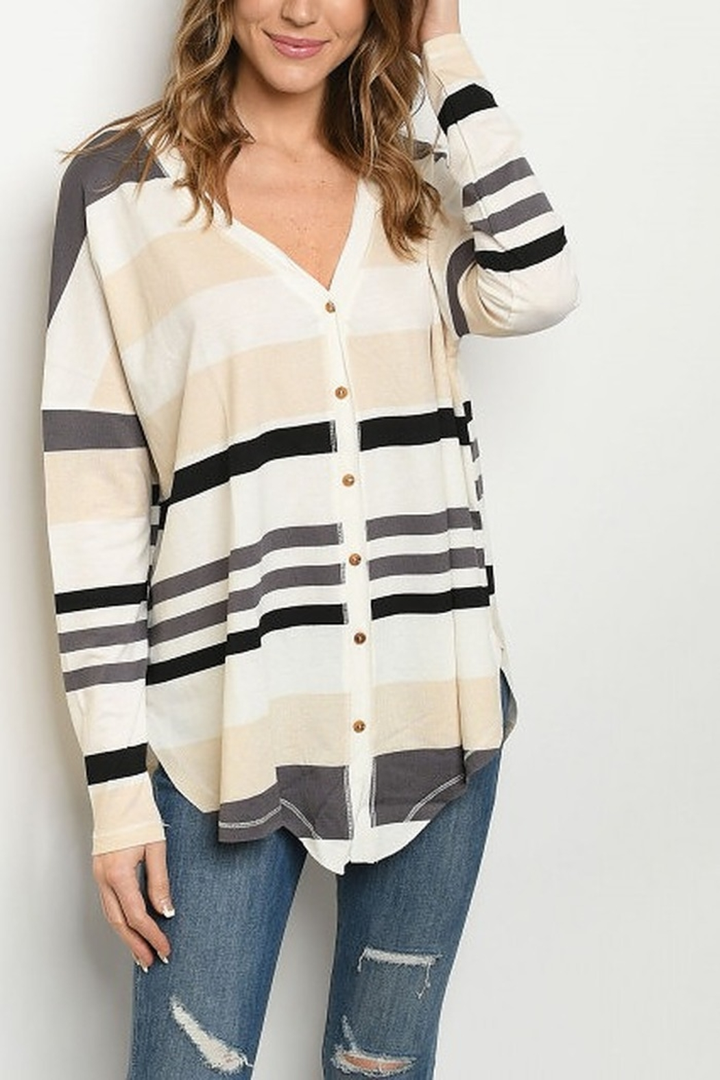 Lyn -Maree's Stripe Button Down - Main Image