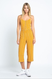 skylar madison Stripe Button-Down Jumpsuit - Front cropped
