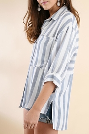Umgee USA Stripe Button-Up Tunic - Side cropped