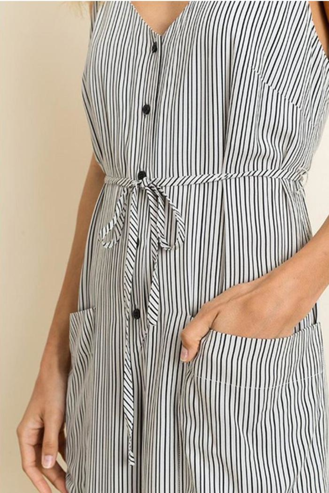 dress forum Stripe Cami Jumper - Back Cropped Image