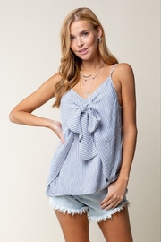 Doe & Rae  Stripe Cami with Tie Front - Product Mini Image