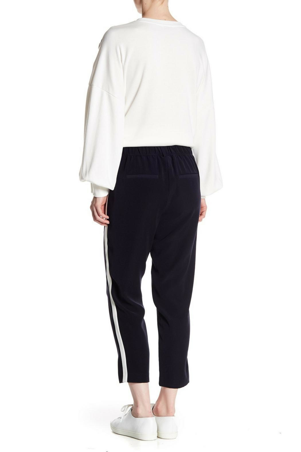 Dex Stripe Capri Pant - Side Cropped Image