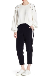 Dex Stripe Capri Pant - Front full body