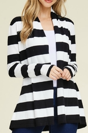 Starrs On Mercer Stripe Cardi - Front cropped