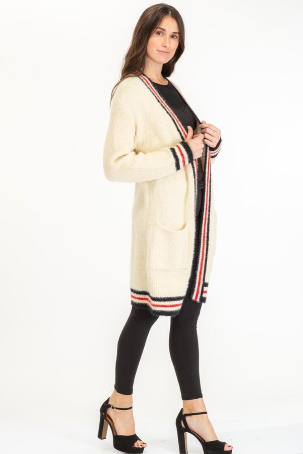 Baciano STRIPE CARDIGAN - Front Full Image