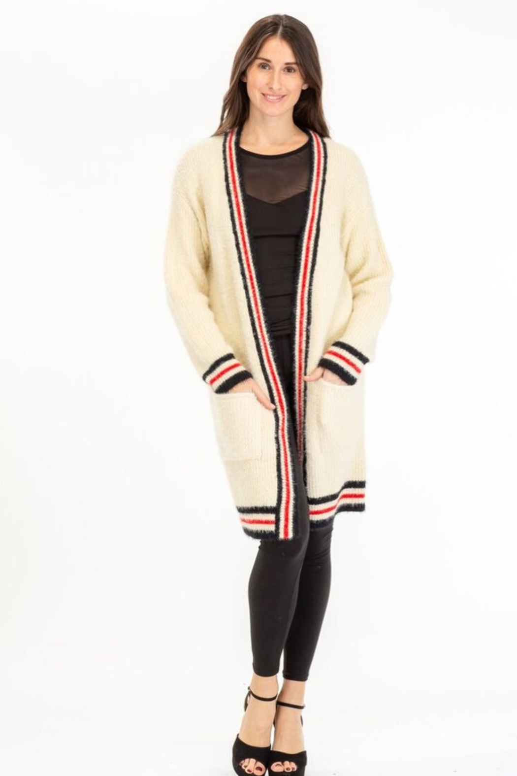 Baciano STRIPE CARDIGAN - Front Cropped Image