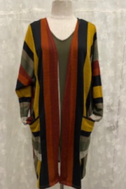Apparel Love Stripe Cardigan - Front cropped