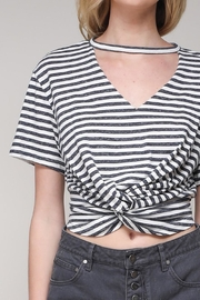 Mustard Seed Stripe Choker Top - Product Mini Image