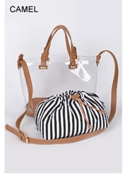 H & D Stripe Clear Tote - Product Mini Image