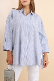 Umgee USA Stripe Collared Shirt - Product Mini Image