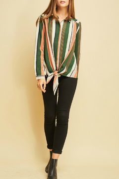 Shoptiques Product: Stripe Collared Top