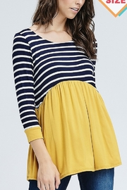 Lyn-Maree's  Stripe Color Block Top - Product Mini Image