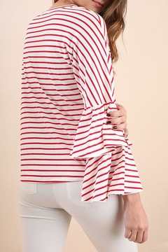 Umgee USA Stripe Crew Top - Alternate List Image